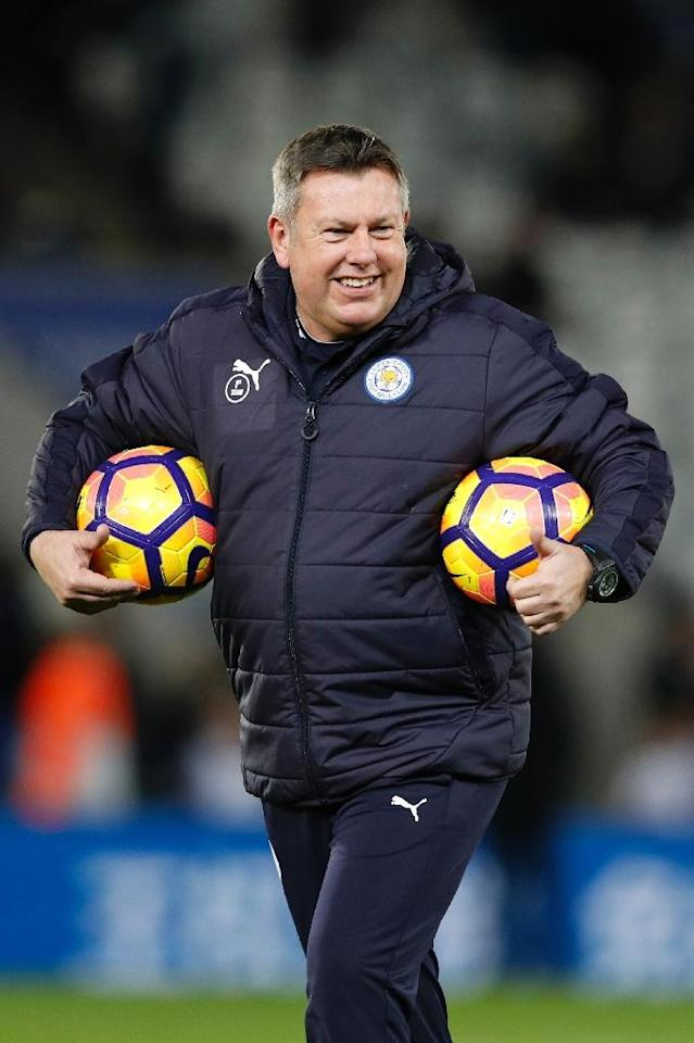 Craig Shakespeare (pictured) was promoted from his role as Leicester's assistant manager following Claudio Ranieri's sensational dismissal (AFP Photo/Adrian Dennis)