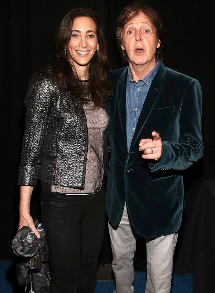 Paul McCartney and Nancy Shevell attend DIRECTV Super Saturday Night Featuring Special Guest Justin Timberlake & Co-Hosted By Mark Cuban's AXS TV on February 2, 2013 in New Orleans, Louisiana.  (Photo by Christopher Polk/Getty Images for DirecTV)
