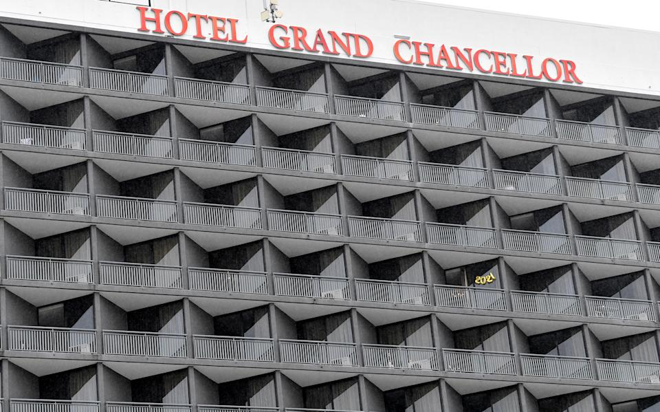 The Hotel Grand Chancellor is seen in Brisbane. Source: AAP