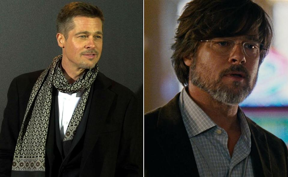 <p>Pitt channeled serious dad vibes for the financial comedy-drama. </p>