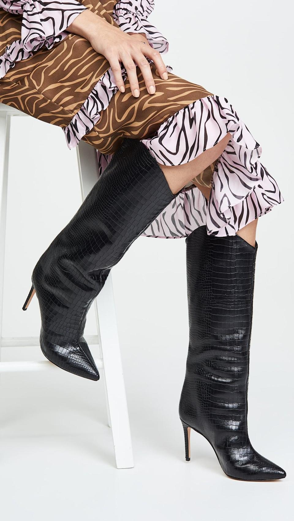 <p>These <span>Schutz Maryana Tall Boots</span> ($238) are a great option when you want a little lift. We love them with a long dress or shorts for a night out.</p>
