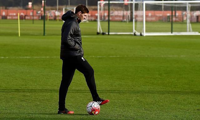 "<span class=""element-image__caption"">Steven Gerrard has a lot to think about as he makes the transition from player to manager.</span> <span class=""element-image__credit"">Photograph: Andrew Powell/Liverpool FC via Getty Images</span>"