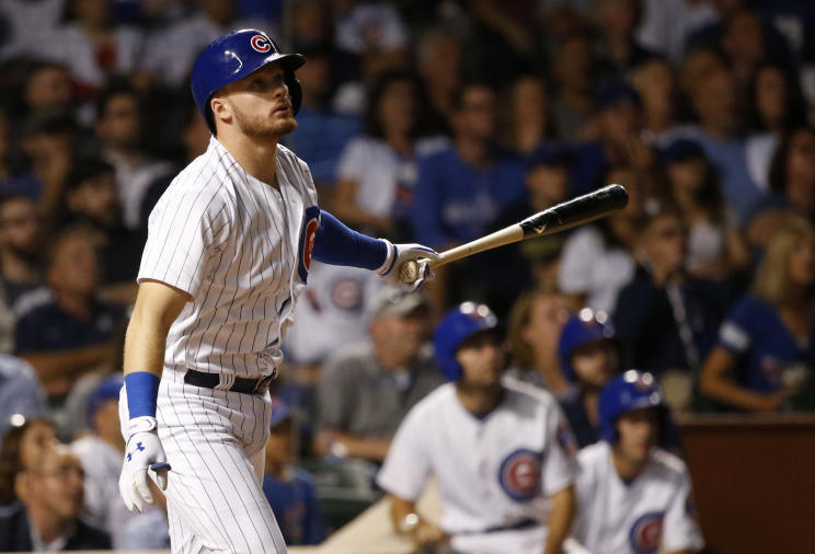 Ian Happ had a big game for the Cubs. Just not as big as he thought. (AP)