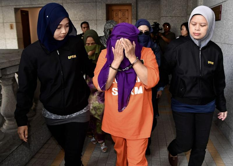 Hasanah was detained by MACC last Tuesday and remanded for five days to assist in investigations into alleged abuse of power and misappropriation of government funds. — Bernama pic