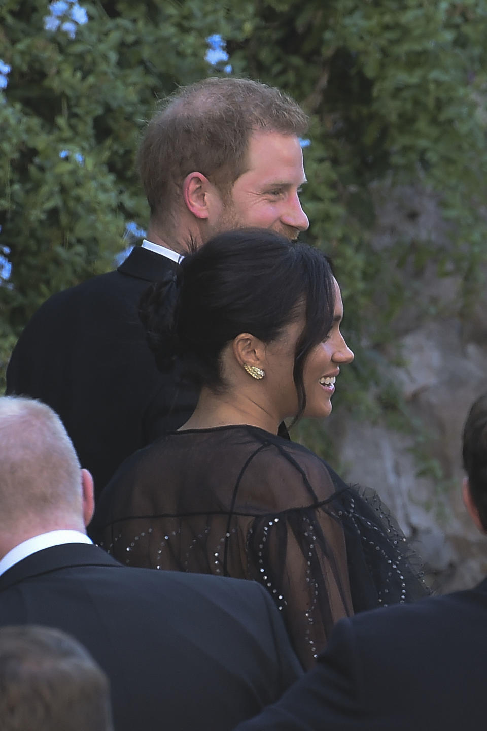Prince Harry and Meghan Markle arrived at Misha Nonoo's Italian wedding. Photo: Mega.