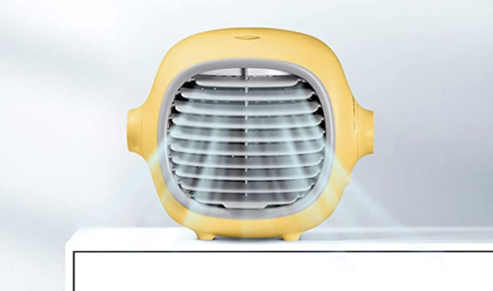 This cute little fan is shockingly powerful. (Photo: Amazon)