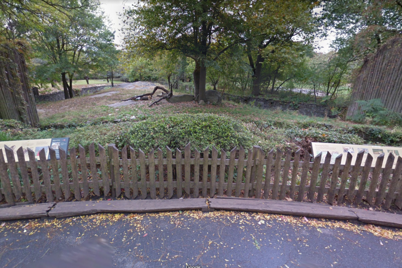 The fence the woman climbed over at Bronx Zoo in New York.