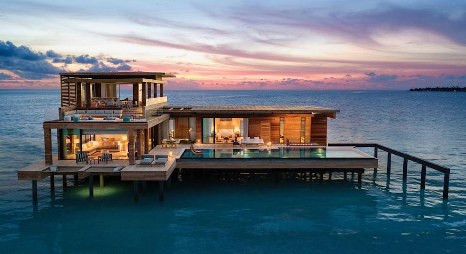 """<p>Why not take this opportunity to go all out for Thanksgiving 2020 and get a head start on the winter holiday season? Go off the grid in the Maldives—all tourists are welcome with proof of a negative Covid-19 test taken at least 72 hours before departure. Stay at the incredibly luxurious <a href=""""https://www.waldorfastoriamaldives.com/"""" rel=""""nofollow noopener"""" target=""""_blank"""" data-ylk=""""slk:Waldorf Astoria Maldives Ithaafushi"""" class=""""link rapid-noclick-resp"""">Waldorf Astoria Maldives Ithaafushi</a>, where all accommodations are private, palatial villas with huge infinity pools, plenty of outdoor space, and panoramic ocean views. You can choose between one situated on the beach, on a reef, or over the ocean on stilts. You'll be made to feel like you're the only ones on the entire island (with five-star service)—if that's not the most ideal vacation in a pandemic world, what is?</p><p><a class=""""link rapid-noclick-resp"""" href=""""https://go.redirectingat.com?id=74968X1596630&url=https%3A%2F%2Fwww.tripadvisor.com%2FHotel_Review-g298335-d15618284-Reviews-Waldorf_Astoria_Maldives_Ithaafushi-South_Male_Atoll.html&sref=https%3A%2F%2Fwww.redbookmag.com%2Flife%2Fg34586101%2Fplaces-to-spend-thanksgiving%2F"""" rel=""""nofollow noopener"""" target=""""_blank"""" data-ylk=""""slk:Read Reviews"""">Read Reviews</a></p>"""