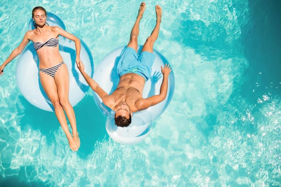 """Having a <a href=""""https://bestlifeonline.com/insane-swimming-pools/?utm_source=yahoo-news&utm_medium=feed&utm_campaign=yahoo-feed"""" rel=""""nofollow noopener"""" target=""""_blank"""" data-ylk=""""slk:backyard pool"""" class=""""link rapid-noclick-resp"""">backyard pool</a> to take a dip in on a hot summer day may seem dreamy, but installing one could actually decrease your home's value. """"The maintenance cost is a lot. Some people don't want to look at it, some people don't want to use it, and people have to be there to make sure there's not a problem with it,"""" explains Guernsey. """"Don't do it as something you plan on making money off of."""""""