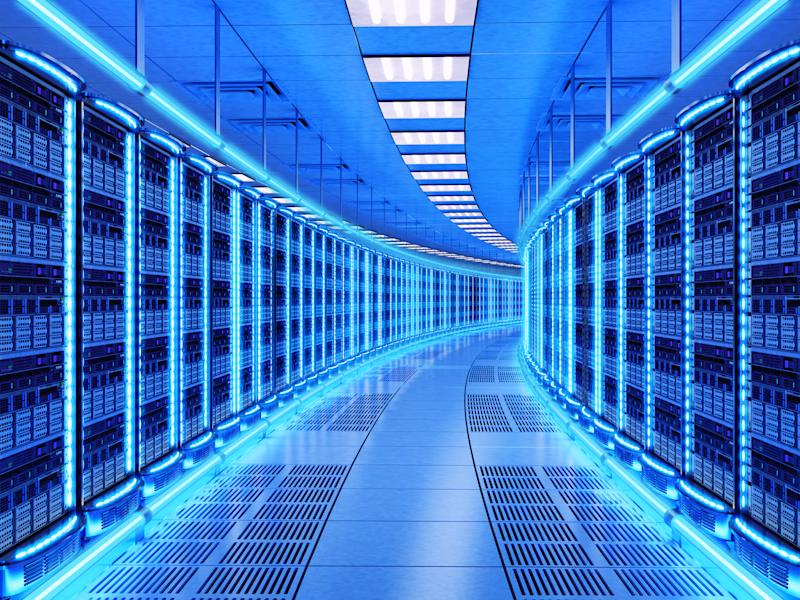 An image of a corporate datacenter