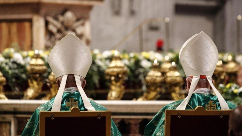 Prelates during the the Holy Mass for the opening of the special assembly of the Synod of Bishops for the Pan-Amazon Region celebrated by Pope Francis in Saint Peter`s Basilica at the Vatican City, 06 October 2019