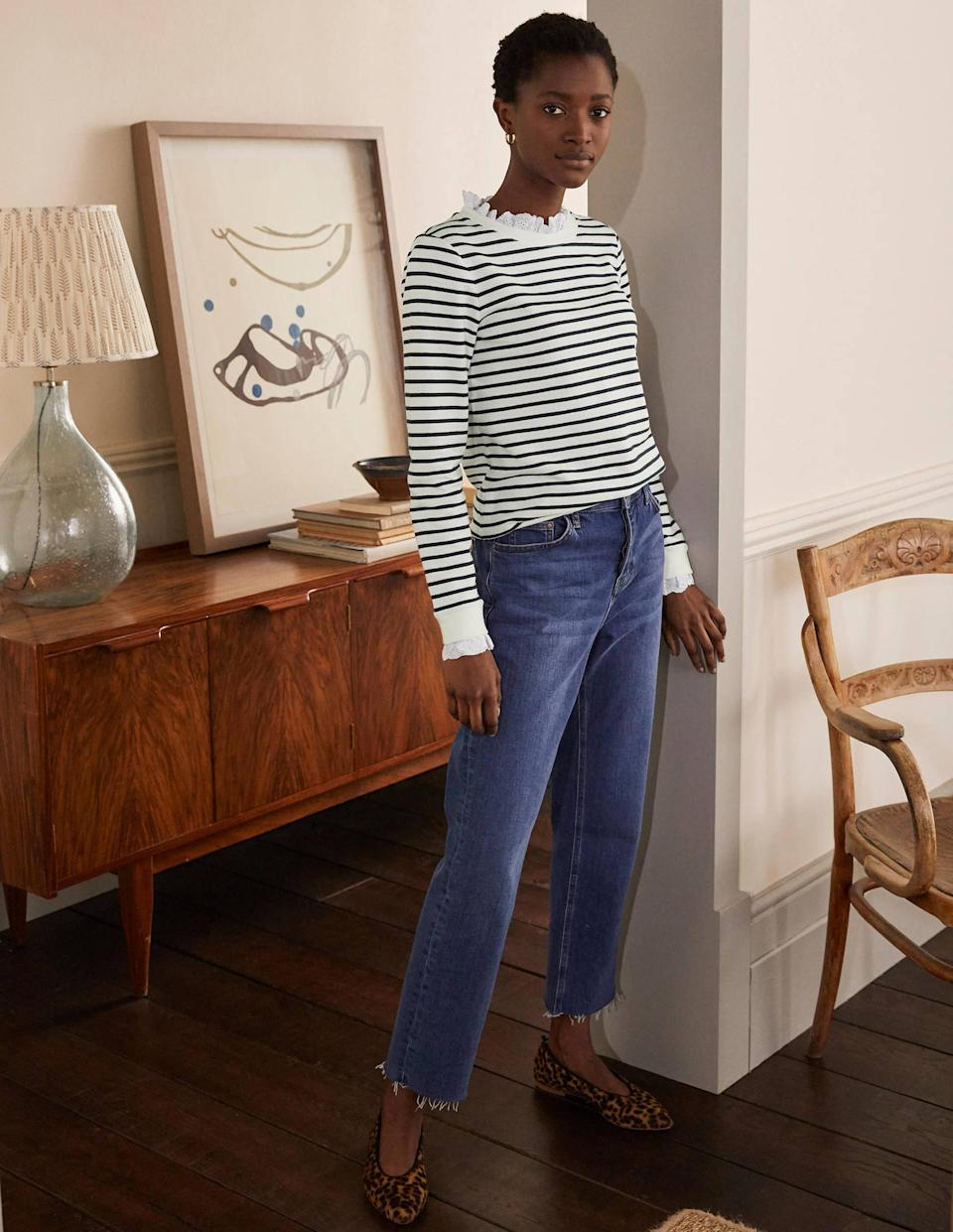 Upgrade your Breton collection with this Boden design. (Boden)