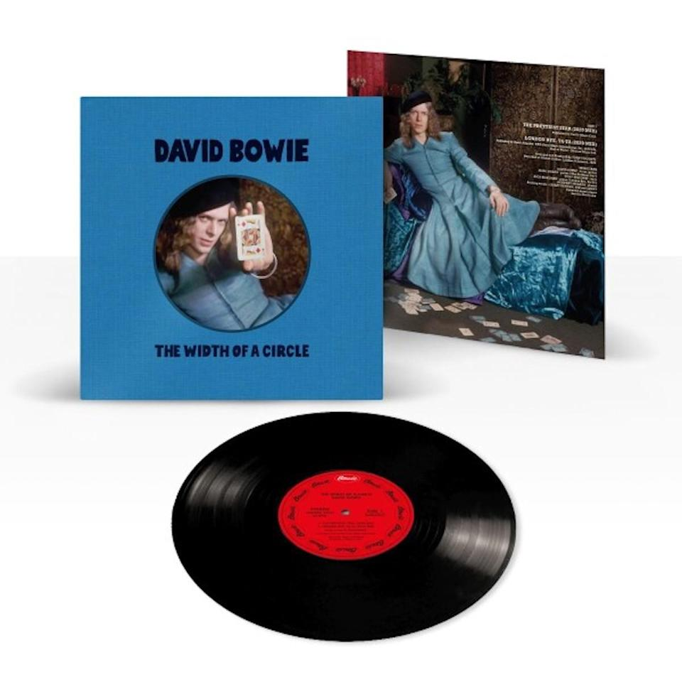 New David Bowie vinyl package featuring Bowie in a dress on the album sleeve.