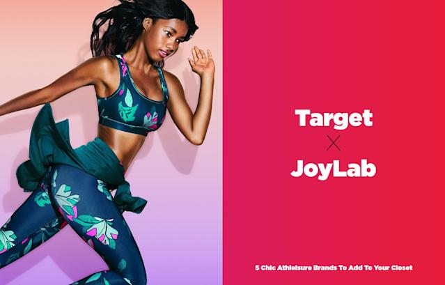 <p>JoyLab is Target's new exclusive athleisure line that puts design and fashion first, without a high price tag. The collection is chock-full of stylish bras, tanks, hoodies, and practical workout gear that starts as low as $15. The line caters to women of all sizes, offering items up to 4x. </p>