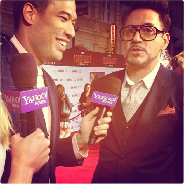 Yahoo!'s Michael Yo interviews Robert Downey Jr. on Wednesday in Hollywood