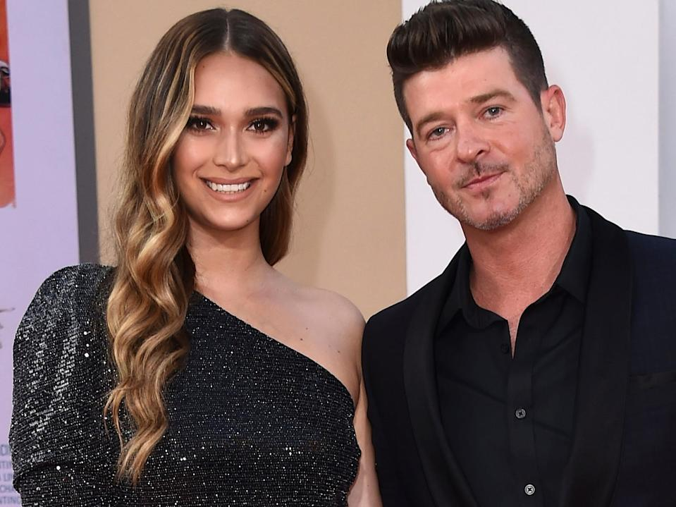april love geary and robin thicke july 2019