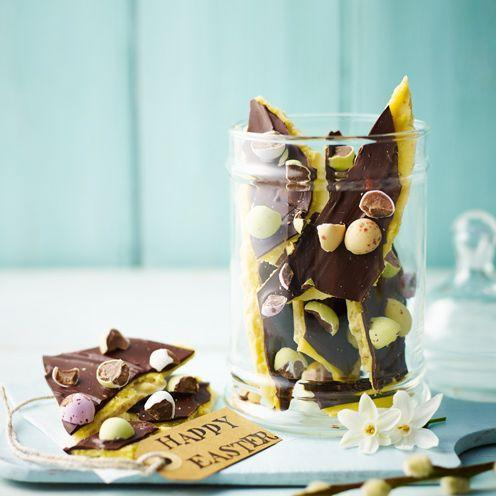 """<p>If you aren't fond of marzipan, you can make this bark without it – just let the white chocolate set before spreading over the dark chocolate layer.</p><p><strong>Recipe: </strong><a href=""""https://www.goodhousekeeping.com/uk/food/recipes/chocolate-bark-dessert"""" rel=""""nofollow noopener"""" target=""""_blank"""" data-ylk=""""slk:Chocolate bark"""" class=""""link rapid-noclick-resp""""><strong>Chocolate bark</strong></a><br><br><br> </p>"""