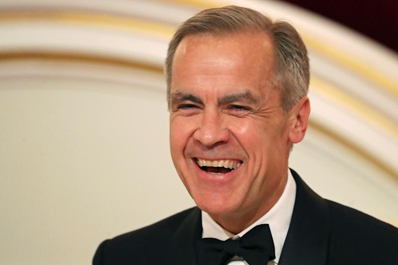 Governor of the Bank of England Mark Carney during the annual Bankers and Merchants Dinner at Mansion House in London. (Photo by Simon Dawson/PA Images via Getty Images)