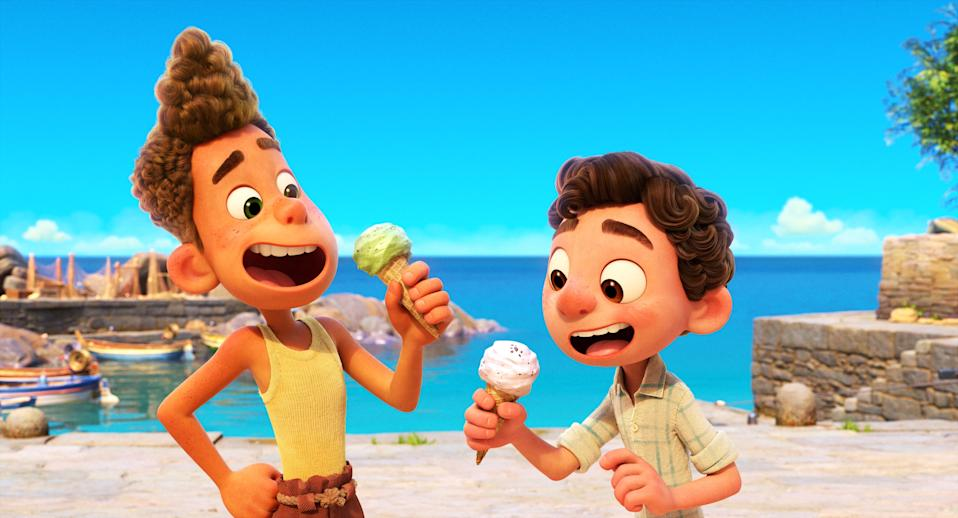 A still from Pixar's Luca which will stream exclusively on Disney+ from 18 June (Disney)