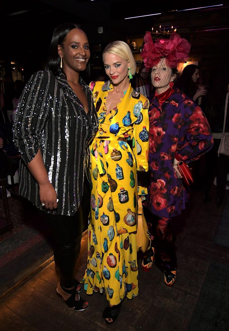 WEST HOLLYWOOD, CA - FEBRUARY 08: Motown President Ethiopia Habtemariam, Jaime King and Bea Akerlund attend InStyle and Motown Records Badass Women Event hosted by Ethiopia Habtemariam and Laura Brown on February 8, 2019 in Los Angeles, sponsored by Fiji Water, Lyft and John Hardy. at Hyde Lounge on February 8, 2019 in West Hollywood, California. (Photo by Charley Gallay/Getty Images for InStyle) | Charley Gallay/Getty Images