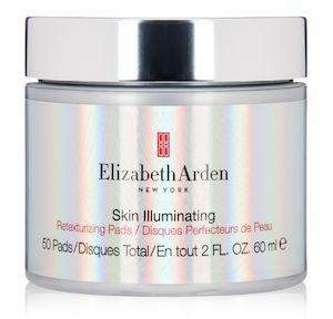 """Resurface skin with <strong><a href=""""https://fave.co/2W16MXw"""" target=""""_blank"""" rel=""""noopener noreferrer"""">Elizabeth Arden Skin Illuminating Retexturizing Pads</a></strong>. Buff away dead skin with 5&nbsp;percent glycolic acid while citrus extracts brighten. <strong><a href=""""https://fave.co/2W16MXw"""" target=""""_blank"""" rel=""""noopener noreferrer"""">Find it for $56 at Dermstore.</a></strong>"""