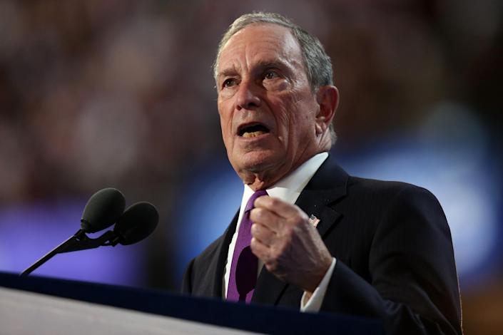 Former New York City Mayor Michael Bloomberg speaking at the Democratic National Convention. (Photo: Joe Raedle/Getty Images)