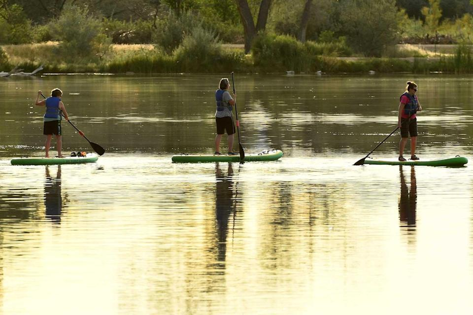 Enjoying the warm weather at James M. Robb Colorado River State Park in Grand Junction, Colorado.