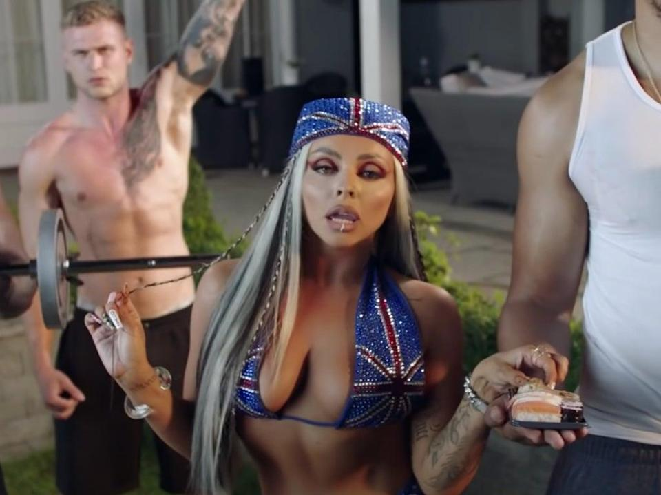 Jesy Nelson in the music video for 'Boyz' (YouTube)