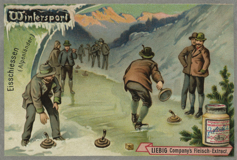 A picture of ice stock sport from 1896. (Culture Club via Getty Images)