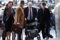 Film producer Harvey Weinstein arrives to New York Criminal Court for the second day of jury deliberations in his sexual assault trial in the Manhattan borough of New York City