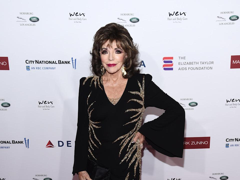 Dame Joan Collins at a charity event in California (Getty Images)