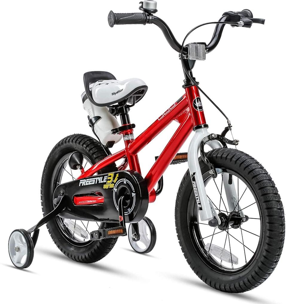 <p>Teach them how to ride a bike with this <span>RoyalBaby Kids Bike</span> ($135). It has removable training wheels so once they graduate from four wheels to two, they don't have to get a new bike.</p>