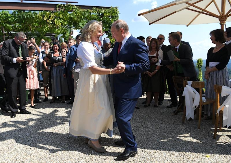 Foreign Minister Karin Kneissl -- who is not a member of the FPOe but was nominated by the party -- also raised eyebrows by inviting Putin to her wedding over the summer