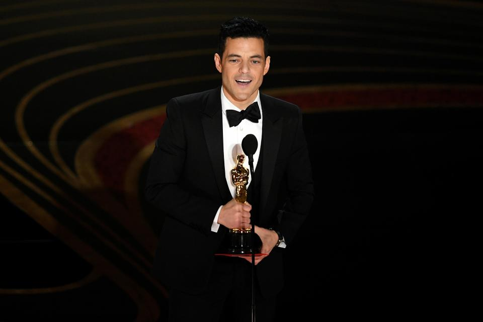 Rami Malek accepts the Best Actor in a Leading Role award for <em>Bohemian Rhapsody</em> during the 91st annual Academy Awards at the Dolby Theatre on Feb. 24, 2019, in Hollywood. (Photo: Kevin Winter/Getty Images)