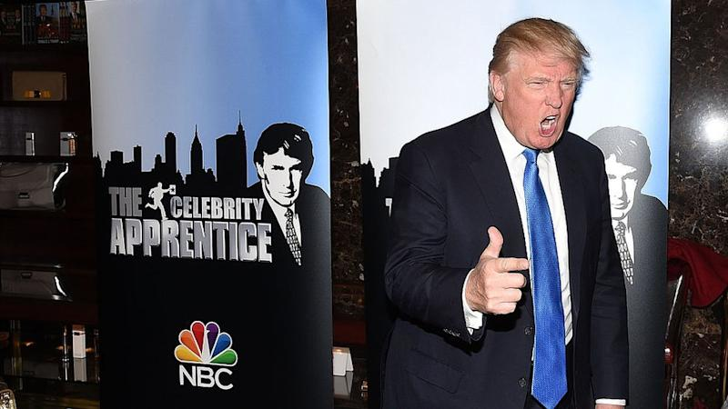 Donald Trump promovendo The Celebrity Apprentice TV em 2015