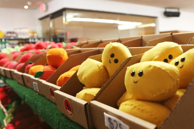 From apples to lemons, the felt fruit at Sparrow Mart is cute overload. (Photo: Angela Kim/Yahoo Lifestyle)