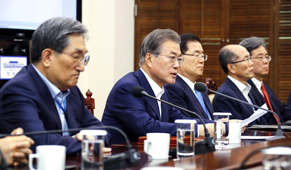 South Korean President Moon Jae-in. Photo: EPA