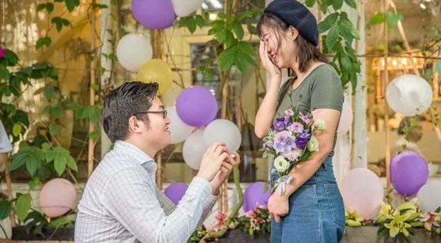 Mr Ming used his shared love of video games with his girlfriend as a way to propose. Source: Weibo