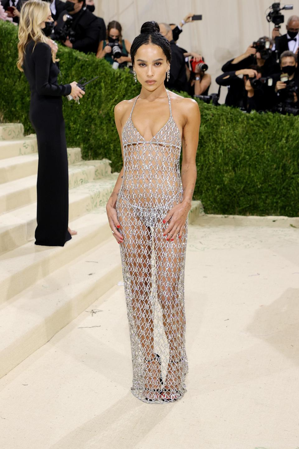 """<h1 class=""""title"""">Zoë Kravitz, The 2021 Met Gala Celebrating In America: A Lexicon Of Fashion - Arrivals</h1><cite class=""""credit"""">Getty</cite>"""