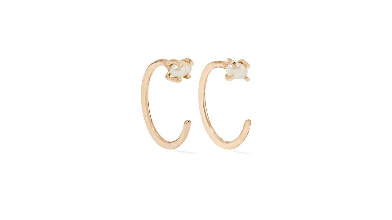 "<p>Cast from recycled 14-karat gold, Melissa Joy Manning's handcrafted hoop earrings are ideal for everyday wear. This dainty pair is adorned with tiny freshwater pearls, and the design is just delicate enough to coordinate with nearly every outfit in her closet.</p> <p><strong>To buy:</strong> $225; <a href=""https://click.linksynergy.com/deeplink?id=93xLBvPhAeE&mid=24449&murl=https%3A%2F%2Fwww.net-a-porter.com%2Fus%2Fen%2Fproduct%2F1116021%2FMelissa_Joy_Manning%2F14-karat-gold-pearl-earrings&u1=RS%2CCreativeValentine%25E2%2580%2599sDayGiftIdeasforHer%2Ctiadmin%2CGIF%2CGAL%2C253533%2C201901%2CI,valentinesday2019"" target=""_blank"">net-a-porter.com</a>.</p>"