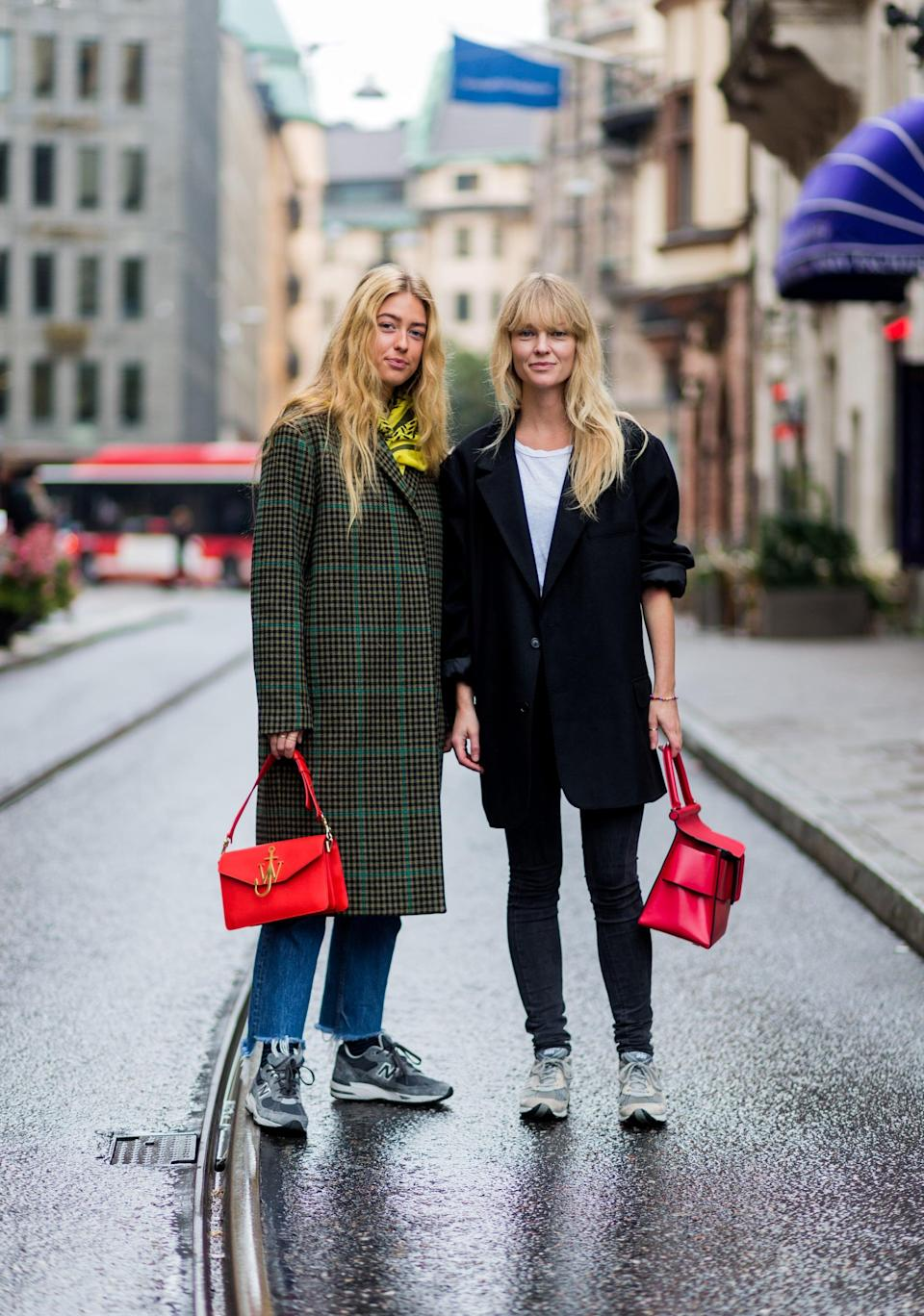 <p>If you haven't caught on by now, old-school sneakers are back in a big way. Scandinavian It-girls wear them with every type of jean from raw-edge straight legs to skinnies.</p>