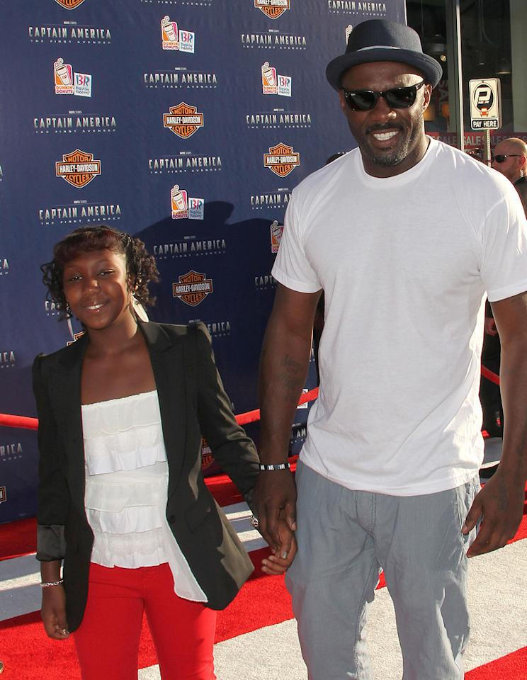 "<a href=""http://movies.yahoo.com/movie/contributor/1804751393"">Idris Elba</a> and daughter at the Los Angeles premiere of <a href=""http://movies.yahoo.com/movie/1810026349/info"">Captain America: The First Avenger</a> on July 19, 2011."