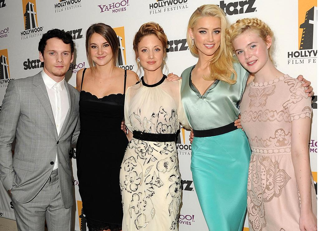 "<a href=""http://movies.yahoo.com/movie/contributor/1804848614"">Anton Yelchin</a>, <a href=""http://movies.yahoo.com/movie/contributor/1804734325"">Shailene Woodley</a>, <a href=""http://movies.yahoo.com/movie/contributor/1809789238"">Andrea Riseborough</a>, <a href=""http://movies.yahoo.com/movie/contributor/1809059761"">Amber Heard</a> and <a href=""http://movies.yahoo.com/movie/contributor/1808461888"">Elle Fanning</a> at the 15th Annual Hollywood Film Awards in Beverly Hills, California on October 24, 2011."