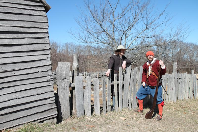 Re-enactors at the English Village Plimoth PlantationClaire Vail