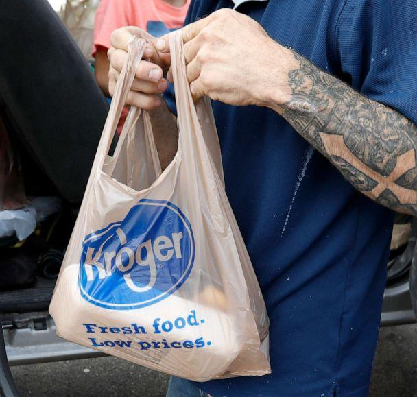 PHOTO: A customer removes his purchases at a Kroger grocery store in Flowood, Miss., June 26, 2019. (Rogelio V. Solis/AP, FILE)