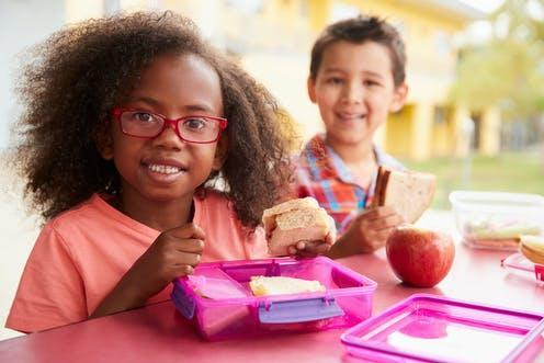 "<span class=""attribution""><a class=""link rapid-noclick-resp"" href=""https://www.shutterstock.com/image-photo/two-young-school-kids-eating-their-1177724500"" rel=""nofollow noopener"" target=""_blank"" data-ylk=""slk:Monkey Business Images/Shutterstock"">Monkey Business Images/Shutterstock</a></span>"