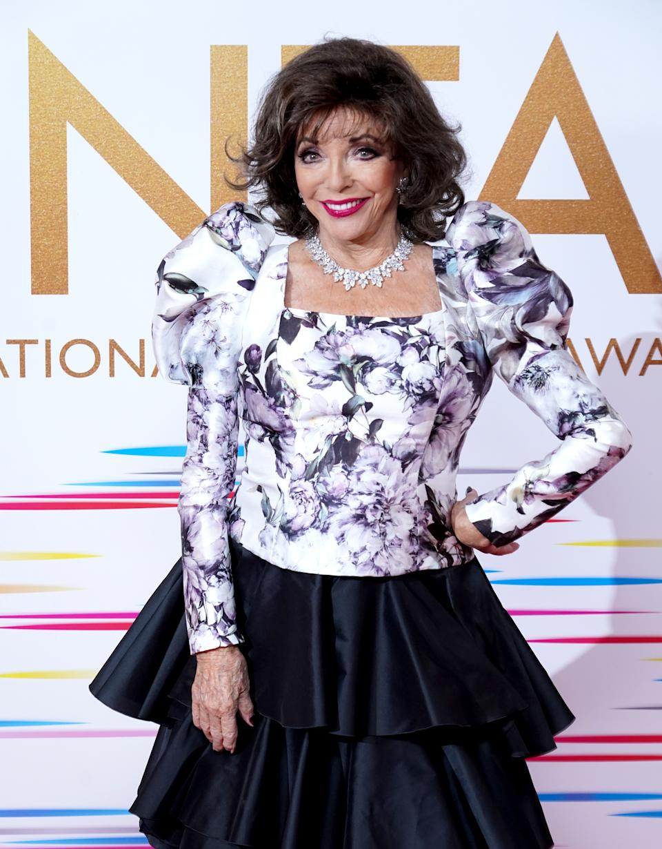 Joan Collins. (Photo by Ian West/PA Images via Getty Images)