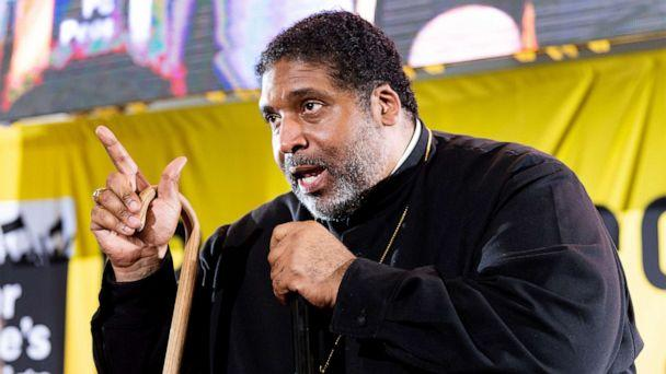PHOTO: In this June 17, 2019, file photo, Rev. Dr. William J. Barber II speaks at the Poor Peoples Moral Action Congress in Washington, DC. (Michael Brochstein/Sopa Images/LightRocket via Getty Images, FILE)