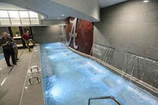 Alabama's athletic facility has a waterfall-therapy room. Tough living. (AP)