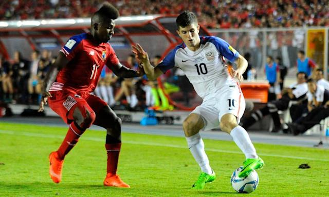 "<span class=""element-image__caption"">Christian Pulisic's talent was exuberantly apparent against Panama and Honduras. </span> <span class=""element-image__credit"">Photograph: Bienvenido Velasco/AFP/Getty Images</span>"